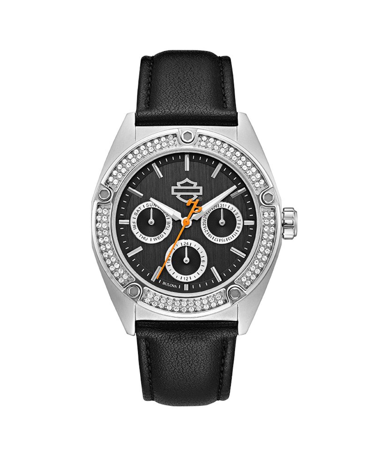 Dámské hodinky H-D Black Swarovski  c25e436b3d7