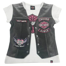 Girl  Jersey Motorcycle  Jacket Tee