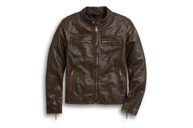 Pánská bunda JACKET-LEATHER,BROWN