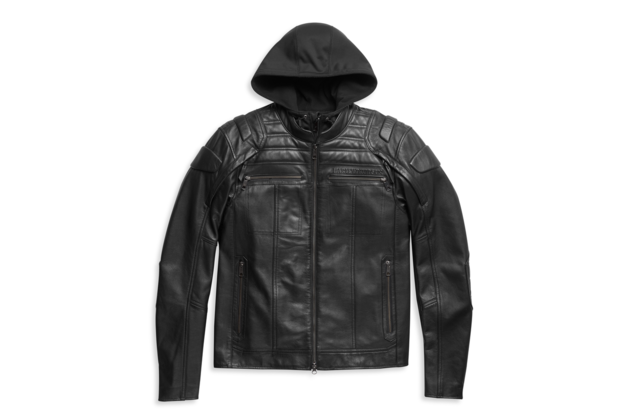 Pánská bunda JACKET-AURORAL II,3N1,LEATHER,BLACK,PPE