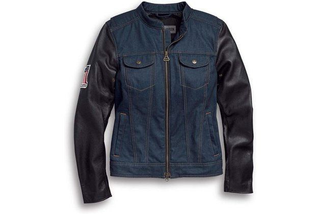 Dámská bunda JACKET-ARTERIAL,DENIM/LEATHER,BLUE,PPE